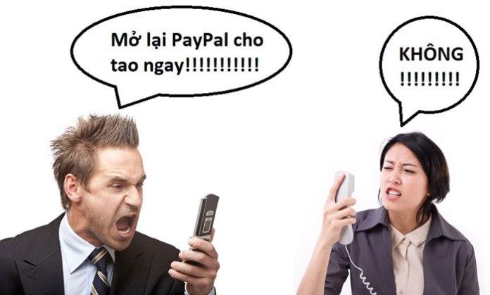 Gọi điện cho PayPal gỡ limit 180 ngày